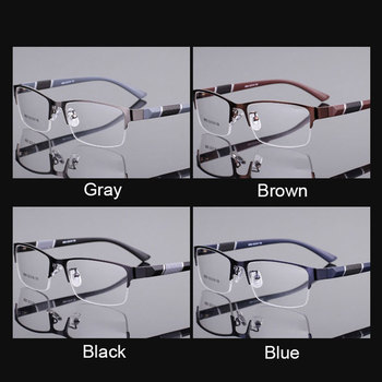 Reven Jate 8850 Half Rim Alloy Front Rim Flexible Plastic TR-90 Temple Legs Optical Eyeglasses Frame for Men and Women Eyewear 1