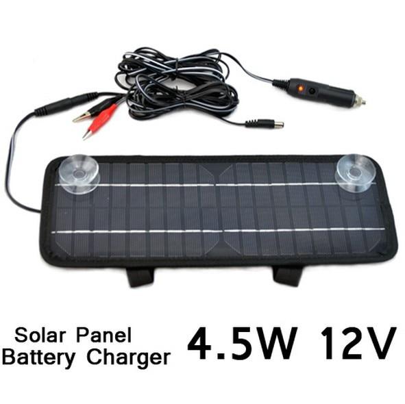 BUHESHUI Multi-Purpose Solar Panel Battery Charger 12V 4.5W Car/RV Free shipping