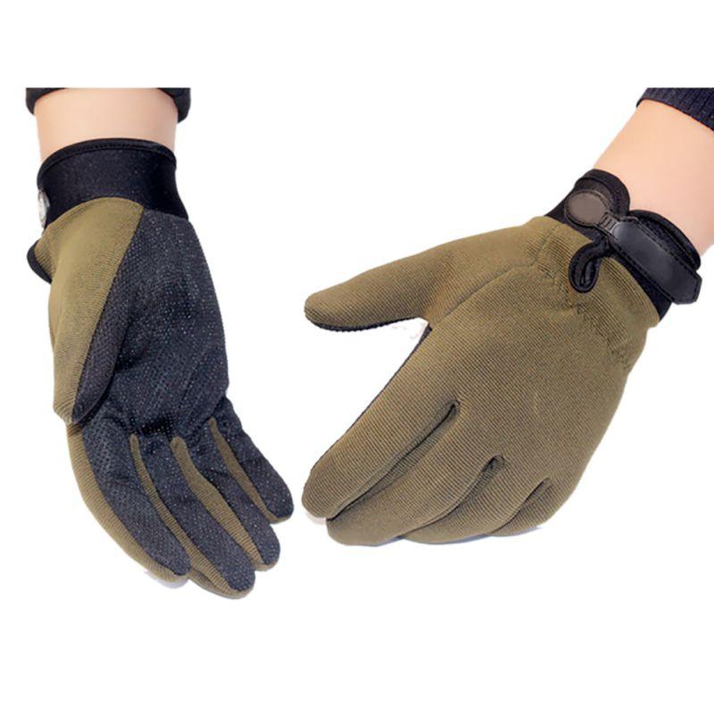 ✅Tactical senderismo antideslizante dedo completo Guantes al aire ...