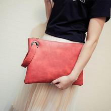 New Fashion women's large clutch bag leather women envelope bag clutch evening bag female Clutches Handbag bag