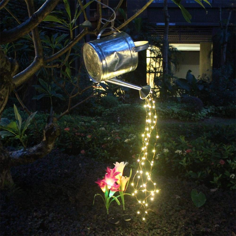 100 LED Waterfall Vine String <font><b>Lights</b></font> Battery Copper wire Fairy <font><b>Lights</b></font> <font><b>for</b></font> Tree Store Christmas <font><b>Home</b></font> Window Background <font><b>Decoration</b></font> image