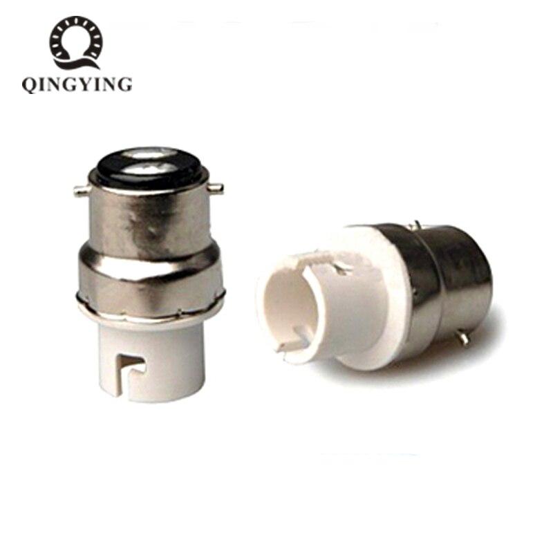 10pcs B22 To B15 Lamp Holder LED Bulb Bayonet Socket Bases B22-B15 White Fireproof Lamp Holder Converters