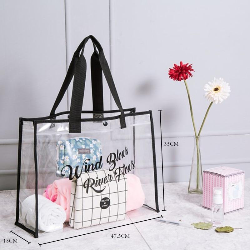 Portable One-shoulder Bags For The Swimming Pool Beach Bath Bag PVC Transparent Bag Travel Tote Wash Storage Swmming Handbags