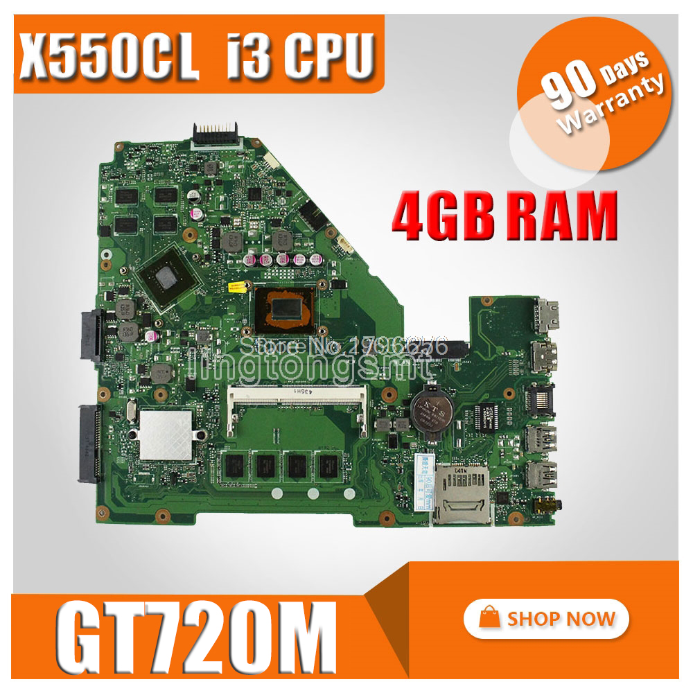 i3 CPU GT720M 4GB RAM X550CC Motherboard REV:2.0 For ASUS Y581C X552C X550C X550CL A550C K550C Laptop motherboard Mainboar x550cc with 2117 cpu gt720m 2gb n14m ge s a2 mainboard for asus x550c x550cc y581c laptop motherboard 100
