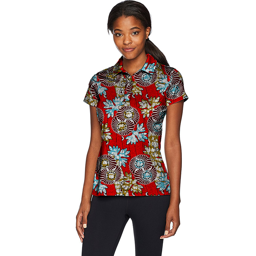 3691307d2f9 US $24.78 23% OFF|Summer Fashion Short Sleeve Tees Women Tops Dashiki  Clothes African Festive Print T Shirt Africa Women Clothing Customized-in  ...