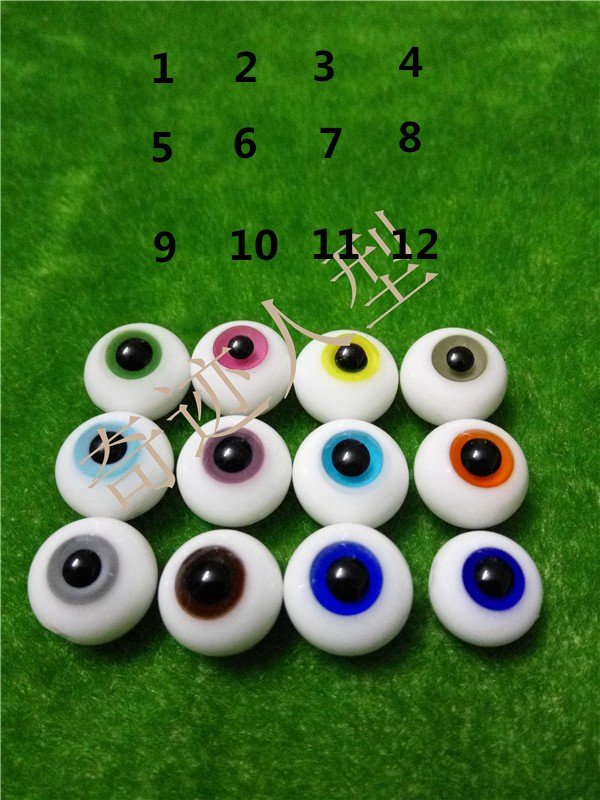 <font><b>1/3</b></font> 1/6 1/4 1/8 1/12 <font><b>BJD</b></font> SD Doll <font><b>Eyes</b></font> Green Blue Black Red eyeball 10 mm 12 mm 14 mm 16 mm 18 mm image