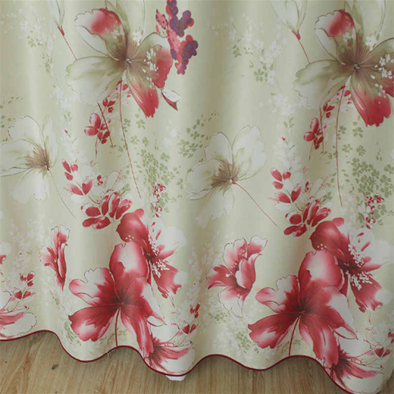 Floral Pink Printed traditional chinese curtain Princess Sheer curtains for Kids girl Room bedroom Window Curtain WP176B
