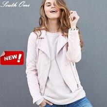 Застегивать блузон cuir бомбардировщик розовые пастель удивительные блейзер пу кожаные порошок