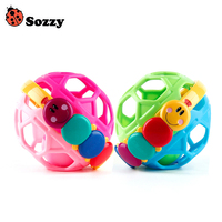 Baby Toddler Toys Kids Bendy Ball Fun Multicolor Activity Educational Activity Grasping Ability Toy Jingle Ball