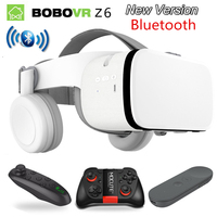 2019 Newest Bobo vr Z6 VR glasses Wireless Bluetooth VR goggles Android IOS Remote Reality VR 3D cardboard Glasses 4.7 6.2 inch