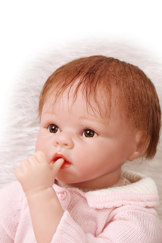 "Fashion 22"" Reborn baby dolls girls toy silicone vinyl ..."