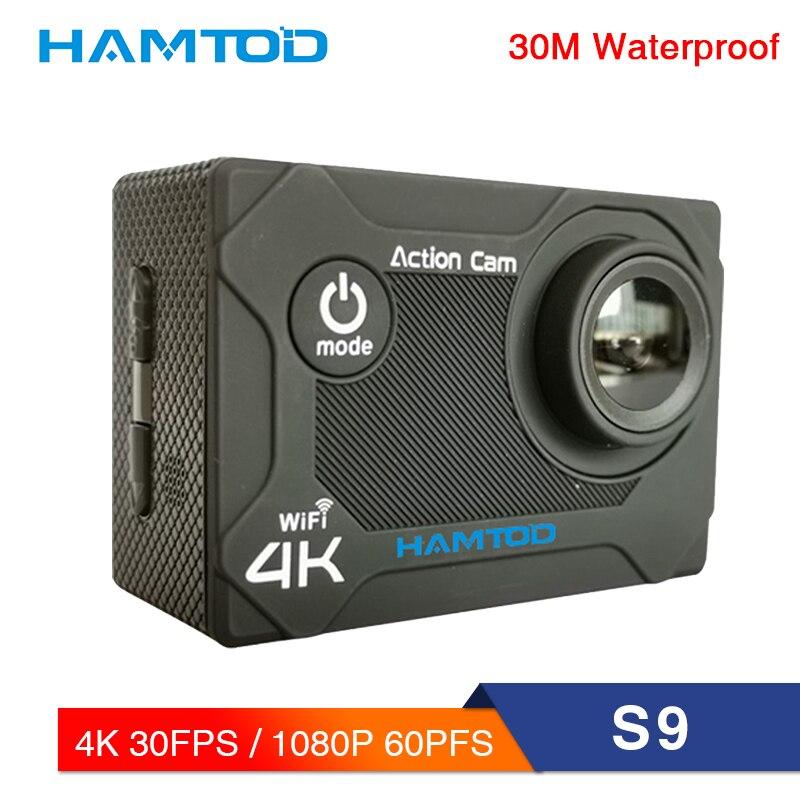 Caméra de Sport HAMTOD S9 HD 4 K WiFi 2.0 pouces écran LCD GC1034 caméra Sport 120 degrés