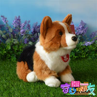 30cm Welsh Corgi Dog Toys Sitting Dog Doll Plush Soft Colourful Birthday Gifts Cute Plush Cute Plush Plush Kawaii Plush