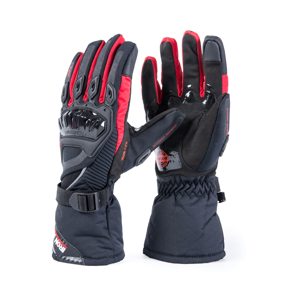 Guantes de Moto de hierro JIA'S pantalla táctil invierno Cálido impermeable Guantes protectores Guantes Moto Luvas Alpine Motocross estrellas
