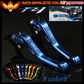 Insignia del laser (FZ1) azul de la motocicleta corto de freno palancas de embrague para yamaha fz1 fazer 2006 2007 2008 2009 2010 2011 2012 2013 2014 2015