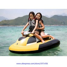 Very Funny Children Waterpark Amusement Park Water Play Equipment Battery Inflatable Motorboat For Kids