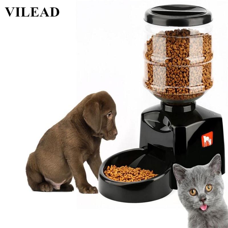 VILEAD Super Intelligent bol automatique pour animal de compagnie 5.5 Litre Grande Minuterie Automatique Pet Chien Chat Mangeoire Électronique De Contrôle des Portions Distributeur