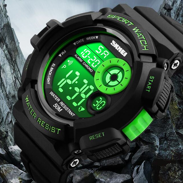 2017 New Men Sports Watches Skmei Brand Military Watch Casual LED Digital  Watch Electronic Wristwatches 50M Waterproof Clock Men 131d857000