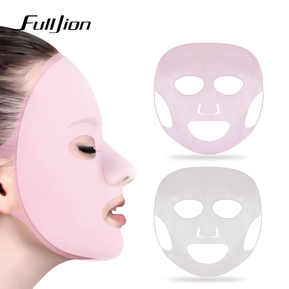 Fulljion Reusable Silicone Mask Cover Face Skin Care Hydrating Moisturizing Mask For Sheet Prevent Evaporation Steam Beauty Tool image