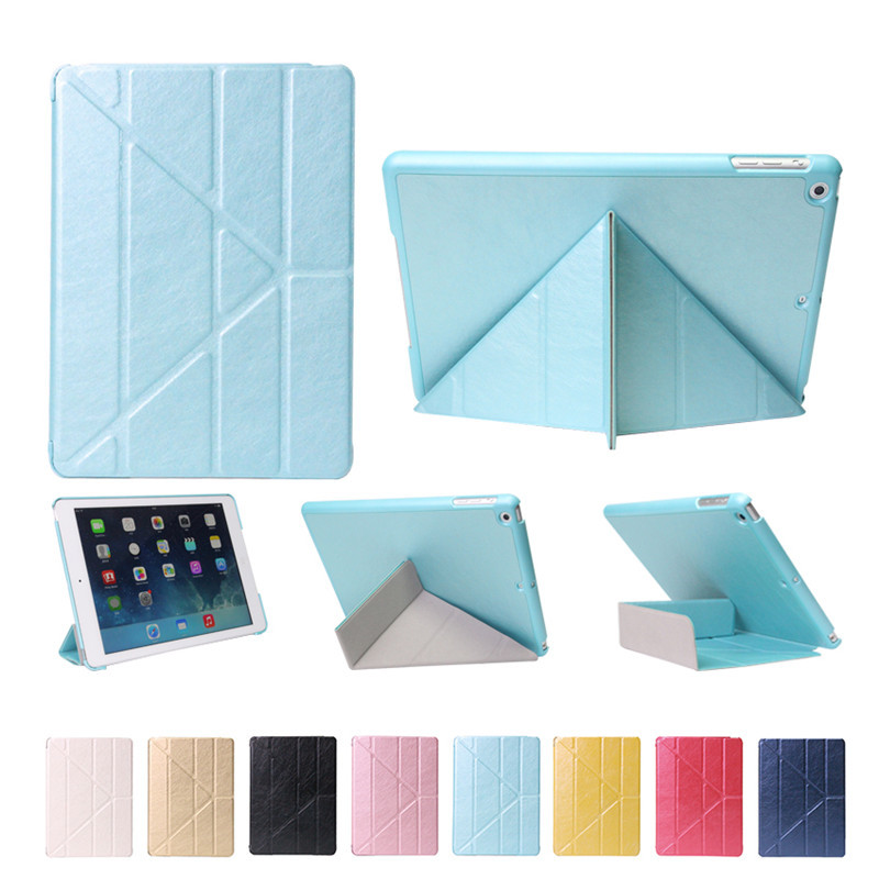 For iPad air 1 Smart Case PU Leather +pc wake up sleep Stand Cover For Apple iPad 5 with stylus pen for apple ipad air 2 pu leather case luxury silk pattern stand smart cover