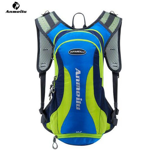 ANMEILU 10L Outdoor Waterproof Lightweight Backpack Hydration Bladder Pack Sports Rucksack Cycling Running Marathon Camping Bag