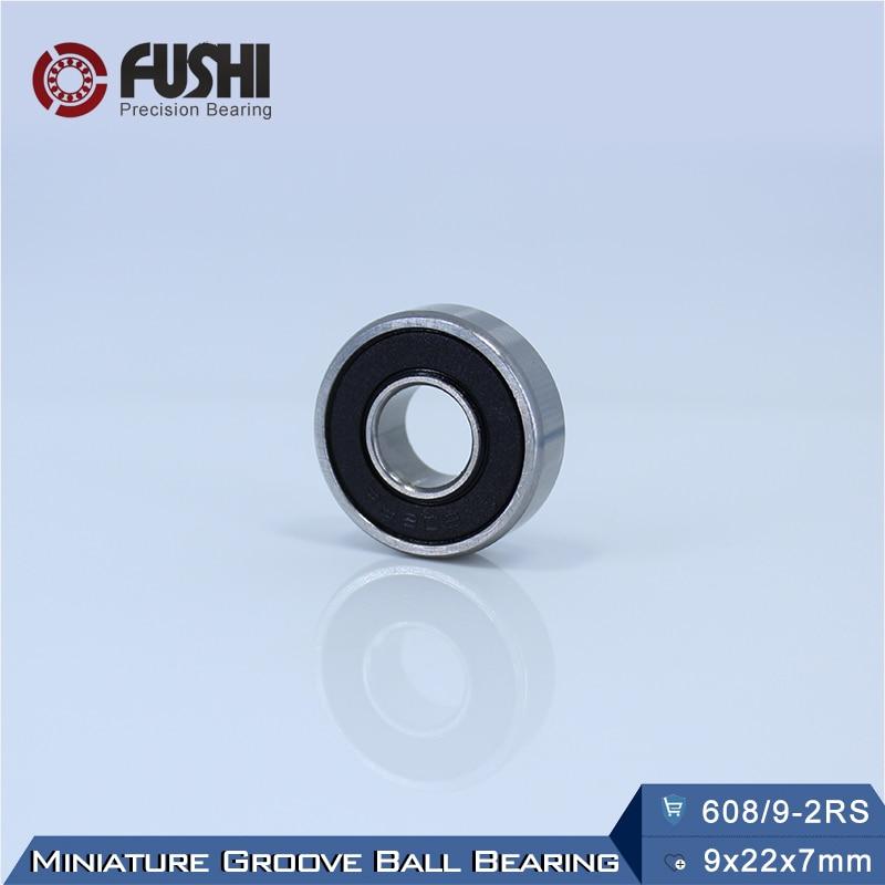 608/9 Bearing ABEC-1 ( 4 PCS ) 9x22x7 mm Miniature 608/9 RS 2RS Ball Bearings 608-9 2RS 608/9RS Bearing 10pcs high quality abec 5 608 2rs 608rs 608 2rs 608 rs 8 22 7 mm miniature rubber seal skateboard deep groove ball bearings