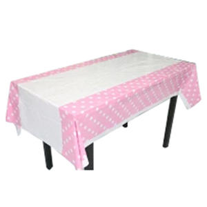 SZS Hot Polka Dots Table Cover Cloth Decoration Pink