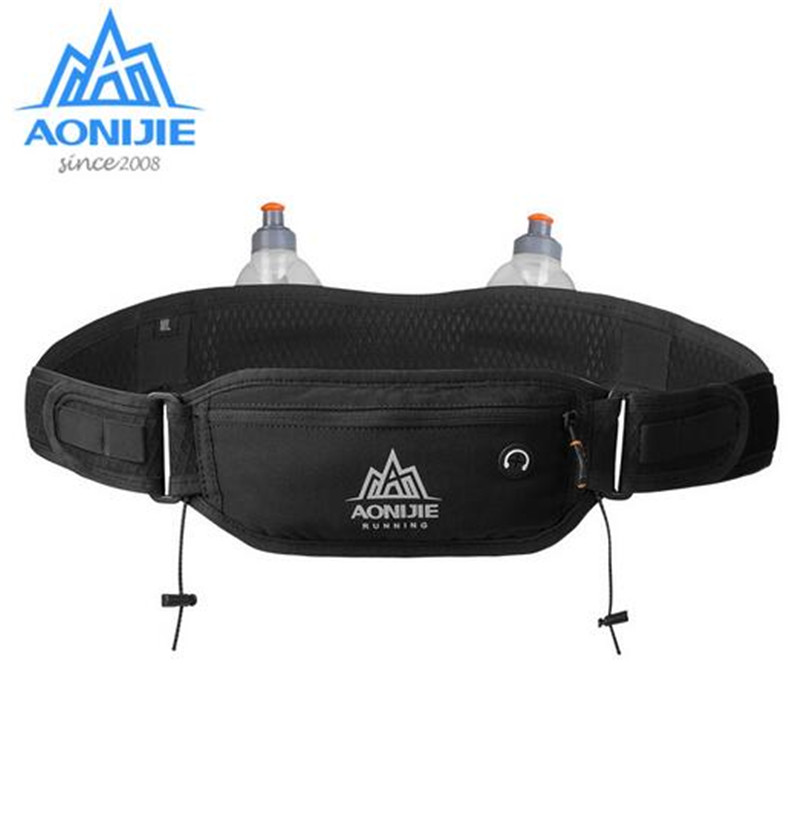 AONIJIE Marathon Running Waist Bag Hydration Belt Bottle Phone Holder Waterproof Jogging With 2 Water Bottle 170ML in Running Bags from Sports Entertainment
