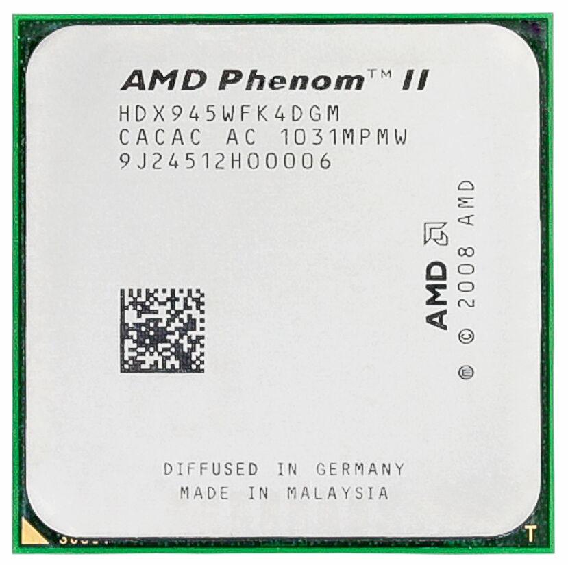Livraison Gratuite Origine AMD Phenom II X4 945 CPU processeur 3.0 GHz Socket AM2 +/AM3 938pin L3/6 M Quad-CORE scrattered pièces