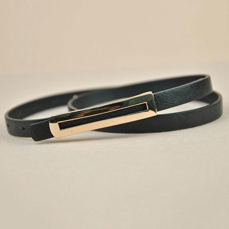 New Luxury Metal Buckle Thin   Belt   Classic Wild Female Minimalist Thin   Belt   Straps Waistband Cummerbund For Apparel Accessories