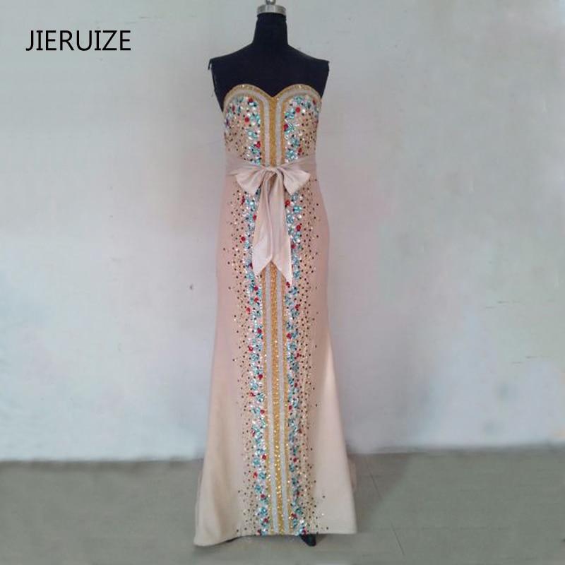 JIERUIZE Chmapagne Värvilised krüodid Merineitsi õhtukleidid Pikk kullake Formaalne kleidid Õhtukleidid robe de soiree