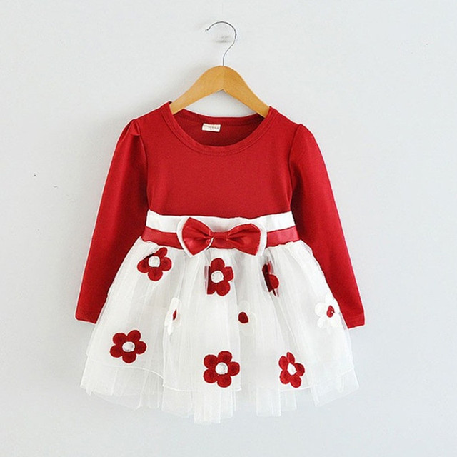 Long Sleeve Baby Girls Dress For Girl Christening Birthday 0 2T Newborn Toddler Dresses Kids Casual Clothes Vestido Infantil 24M
