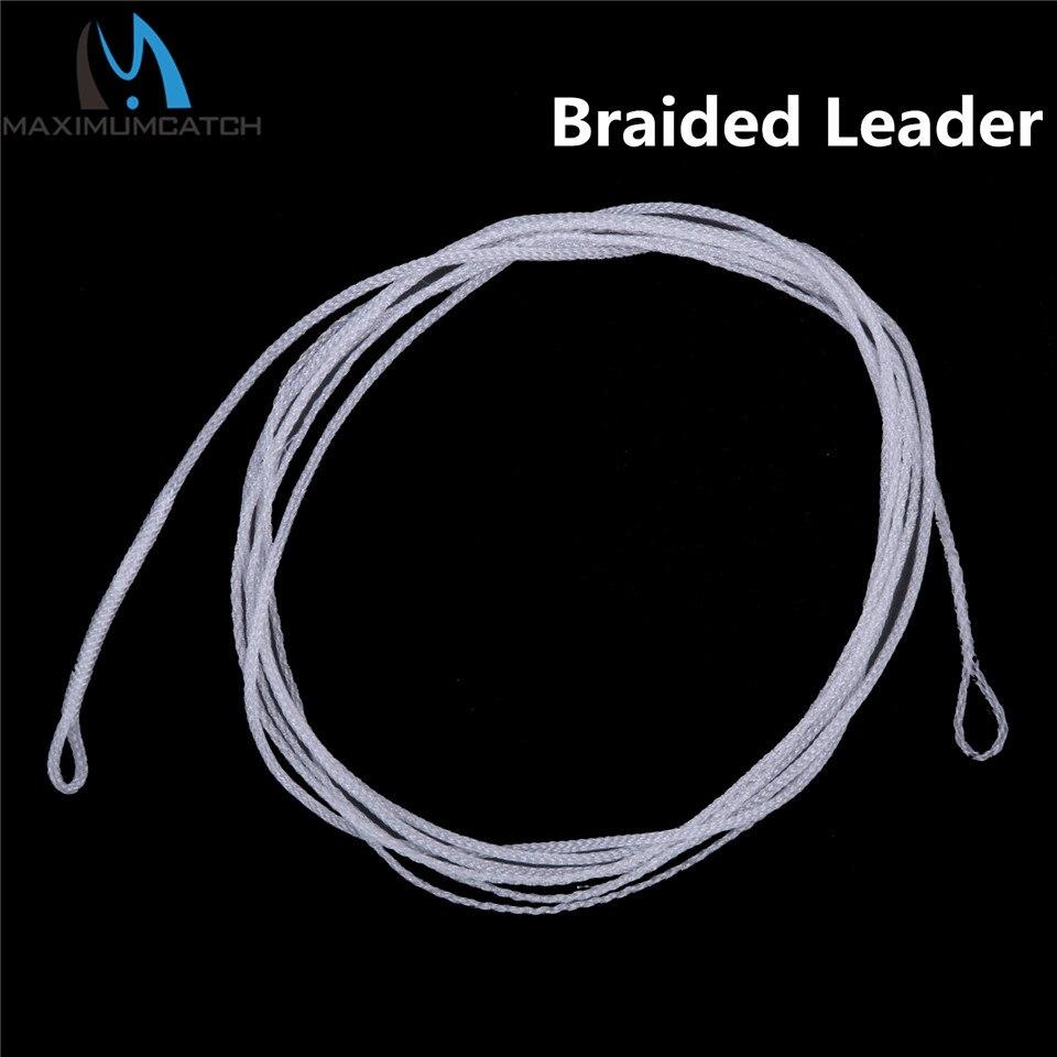 Maximumcatch braided leader line 6ft 7ft 10ft 20lb 2pcs for Floating fishing line