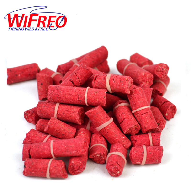[2 Bags] Fishing Pellet Bait for Carp / Grass Carp / Pan Fish Blue Gill Sunfish Crappie Fishing Blood Worm Flavor and More 1 pack clean dry maggots for fishing high protein nutritious fish bait food winter carp fishing baits