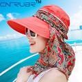 2016 Summer Style Women Foldable Wide Large Brim Floppy Beach Gorro Hats Chapeu Outdoors Visors Cap Sun Collapsible Anti-Uv Hat