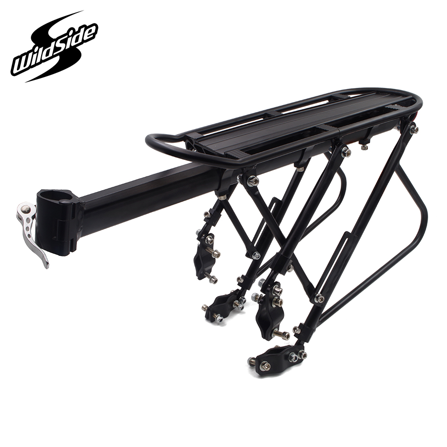 Adjustable aluminum alloy bicycle racks mtb mountain bike luggage carrier cycling rear cargo roof rack cycle parts accessories 2018 bike luggage cargo rear rack can be acted as power bank useful bicycle rear carrier racks new bicycle accessories