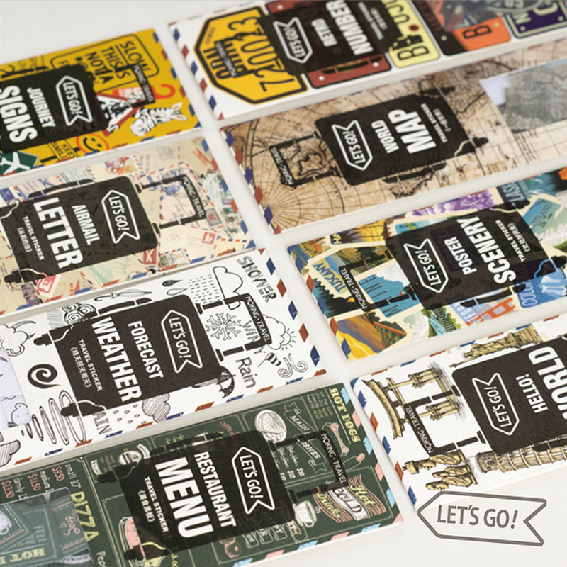 45 Pcs/Bag Vintage stamps licence plate paper sticker package DIY diary decoration sticker planner album scrapbooking kawaii