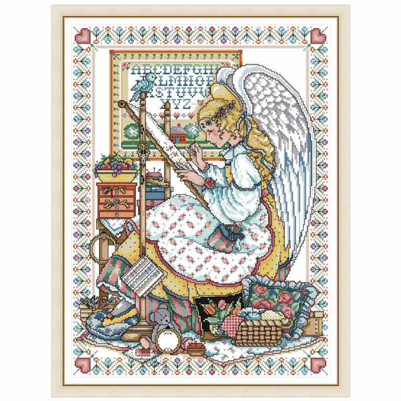 Angel embroider painting counted DMC 11CT 14CT DIY kit Chinese wholesale Cross Stitch embroidery needlework Sets home decor