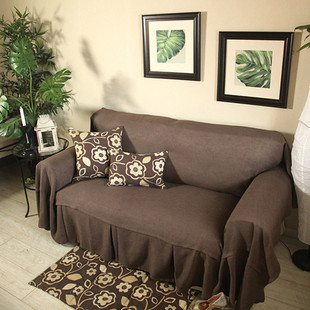 modern solid color brown sofa slipcover coffee sofa towel 100 cotton sofa cloth sofa cover. Black Bedroom Furniture Sets. Home Design Ideas