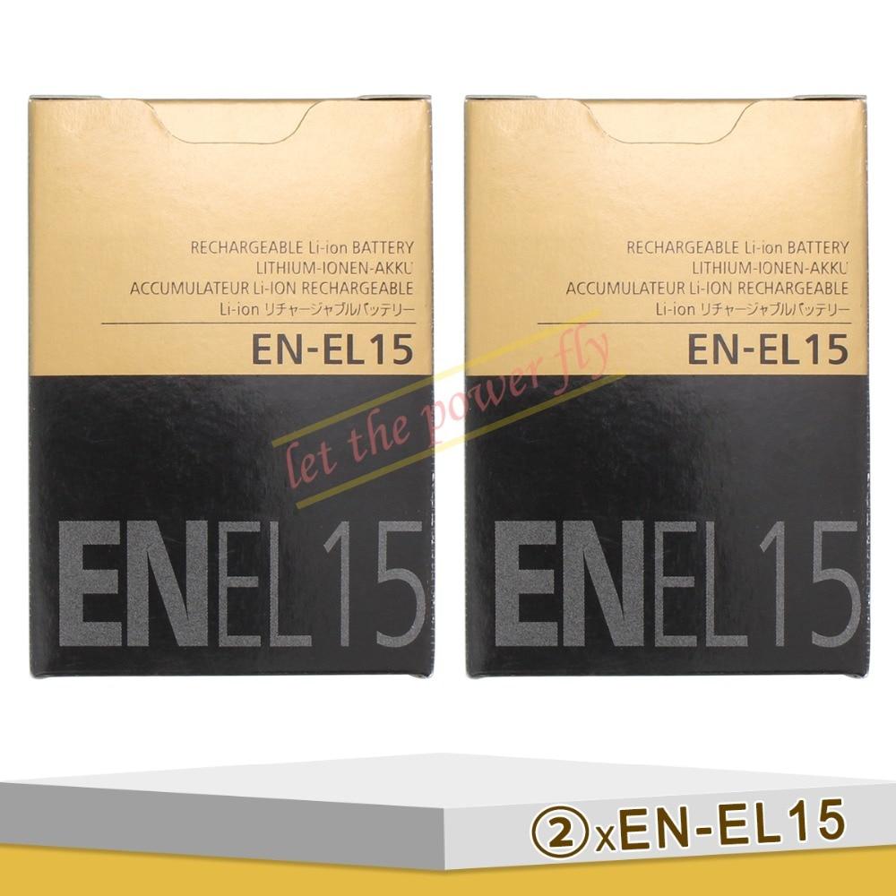 2 х EN-EL15 ENEL15 Камера Аккумулятор Для Nikon D600 D610 D810 D7000 D7100 D800 D800E D600E D750 V1 MH-25 Зарядное Устройство