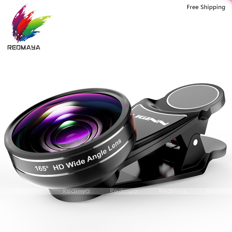 165 Degree HD Wide Angle Lens Mobile Phone Camera Lens Universal Clip 13mm Focal Length For iPhone 5/6/7 For Samsung S5 S6 S7 S8