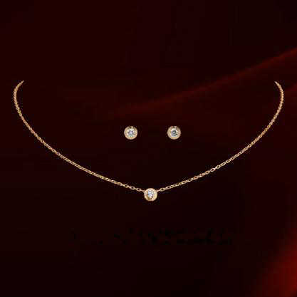 Dan elemento AAA codo de moda Zirconia de conjuntos de joyas para mujeres saludable contra las alergias Fi-RG860552Rose
