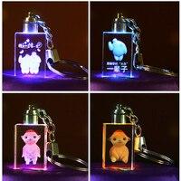Настройка 3D Лазерного Кристалла Фото Гравировкой Брелок Для Personallized Подарки (По Умолчанию Синий Свет) CK001