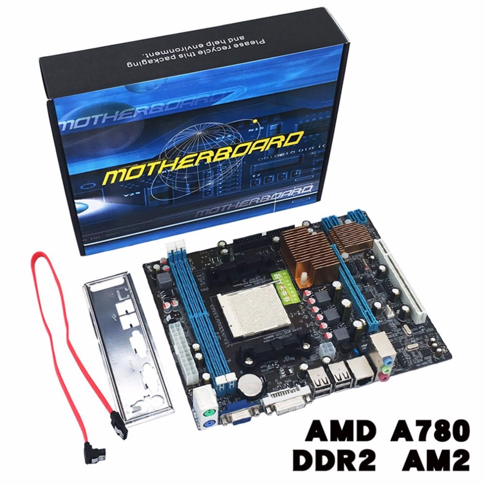 A780 Desktop Computer Motherboard 780G Mainboard Support DDR3 Memory Dual Channel AM3 CPU 16G Memory Storage image