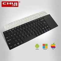 CHYI Bluetooth Wireless Keyboard Ultra Thin Ergonomic Mini Slim Touchpad Computer Keypad For Windows Mac OS Android Phone Tablet