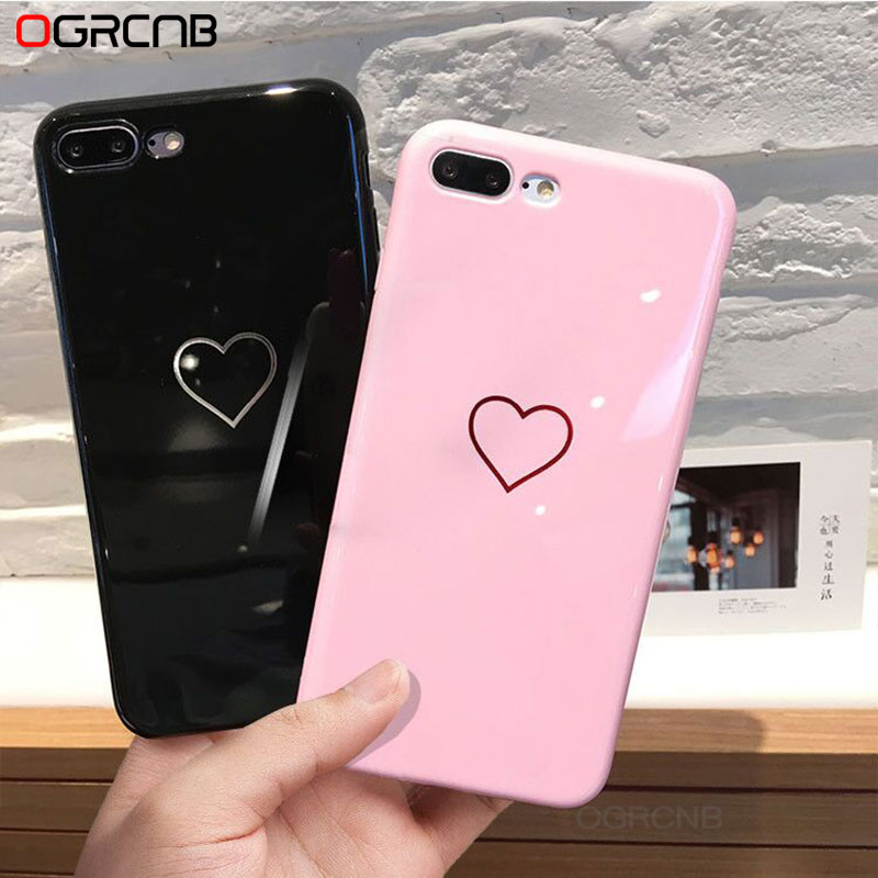 Lovebay Phone Case For iPhone 6 6s 7 8 Plus X Case Fashion Cute Love Heart TPU For iPhone 8 7 Plus 6 6s Plus Ultra Thin Case