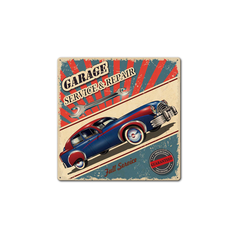 Image 4 - Filling Station Garage Repair Service Car Vintage Club Metal Tin Sign Retro Home Wall Art Decor Iron Poster for Bar PubTire Shop-in Plaques & Signs from Home & Garden