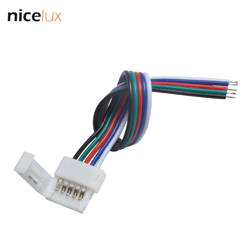 5Pcs/lot 5 Pin RGBW Connector Solderless With 15cm RGBW Cable for 12mm RGBW 5050 LED Strip Free Shipping 5pin RGBW Conductor 5pcs lot 10mm 5pin rgbw l type x type t shape no soldering connector for 5050 rgbw rgbww led strip 5pin rgbw connector