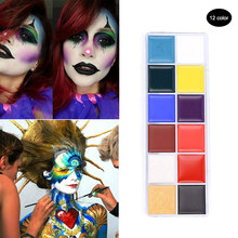 1 Set 12 Colors Flash Tattoo Face Body Paint Oil Painting Art Halloween Party Fancy Beauty Makeup Tools HJL2017