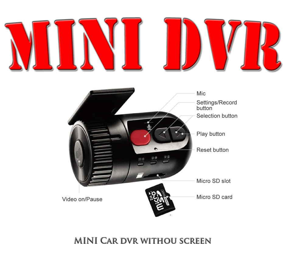 Мини видеорегистратор без экрана